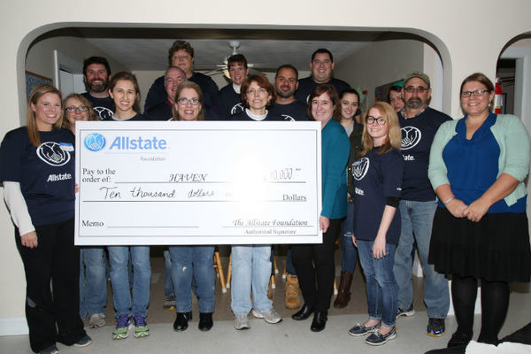 Matthew J Gennaro - Allstate Foundation Recognizes HAVEN on Behalf of Local Agents