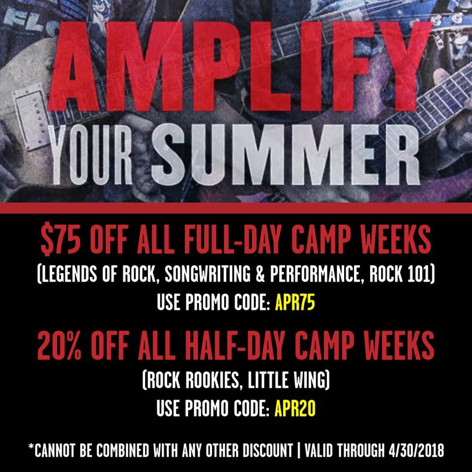 Image of AMPLIFY YOUR SUMMER: HUGE DISCOUNTS ON SUMMER CAMPS THROUGH 4/30!