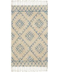 "Image of Nourison Native Art Ivory Blue 27"" x 45"" Accent Rug"