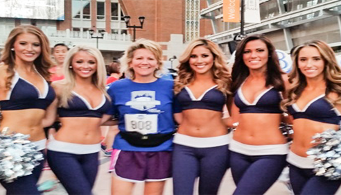 Paula with the MAVS Dancers at the 5K Race.