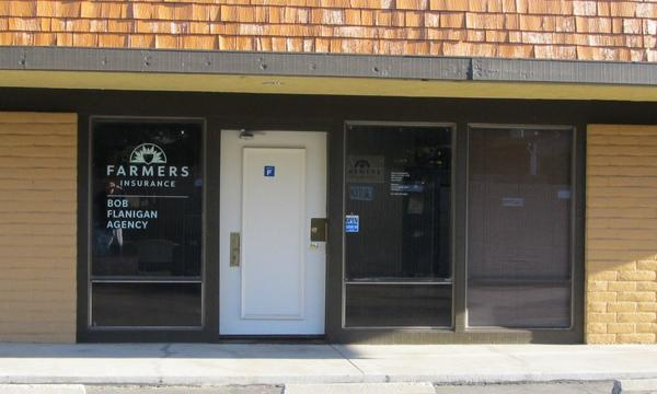 Photo of insurance agency store front.
