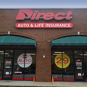 Front of Direct Auto store at 2552 Covington Pike, Memphis