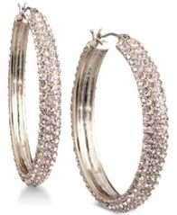 "Image of DKNY Micro-Pavé 1 2/3"" Hoop Earrings, Created for Macy's"