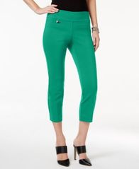 Image of Alfani Petite Tummy-Control Pull-On Capri Pants, Created for Macy's