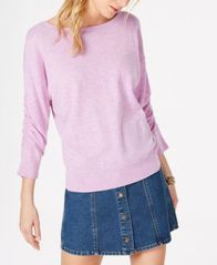 Image of I.N.C. Ruched-Sleeve Sweater, Created for Macy's