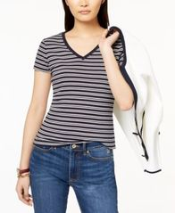 Image of Tommy Hilfiger Cotton Printed T-Shirt, Created for Macy's