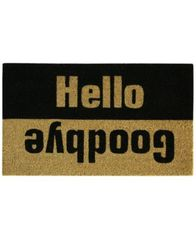 "Image of CLOSEOUT! Bacova Farmhouse Hello/Goodbye 18"" x 30"" Doormat"