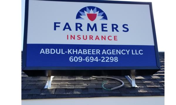 Farmers Insurance Abdul-Khabeer Agency Sign