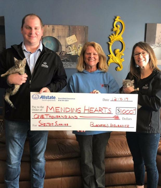 Tonia Burchfield - Allstate Foundation Helping Hands Grant for Mending Hearts Animal Rescue of Hollidaysburg
