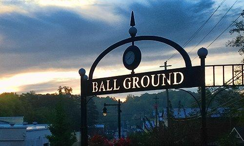 Sign for Ball Ground, Georgia