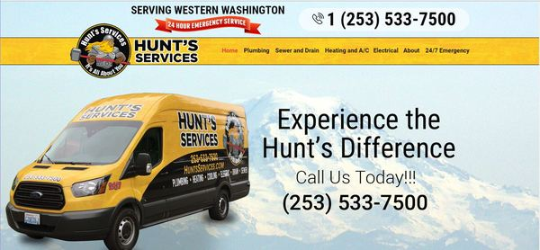 If you need help with your plumbing, heating or electrical, call Hunt's.