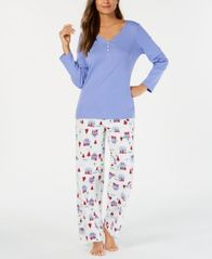 Image of Charter Club Mix It Up Pajama Set, Created for Macy's