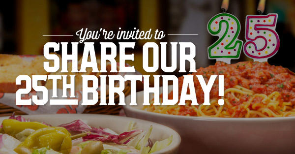 You're invited to Share Our 25th Anniversary.