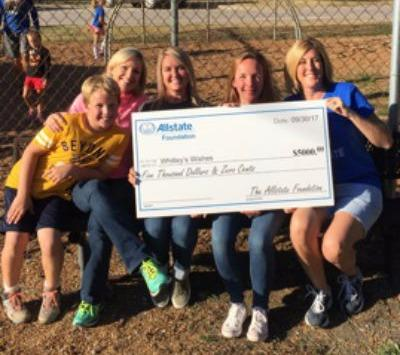 Jennifer Ladd - Allstate Foundation Helping Hands Grant for Whitley's Wishes