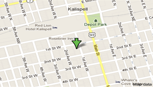 Find us at the corner of First and First West in downtown Kalispell.