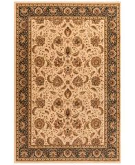 "Image of CLOSEOUT! Kenneth Mink Area Rug Warwick Kashan Wheat/Blue 5'3"" x 7'7"""