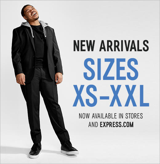 Visit Tysons Corner Center for new men's arrivals available in sizes XS to XXL.