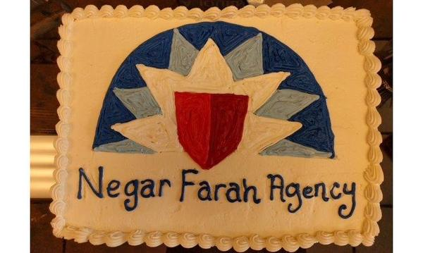 Cake with Farmers® Logo and Negar Farah Agency