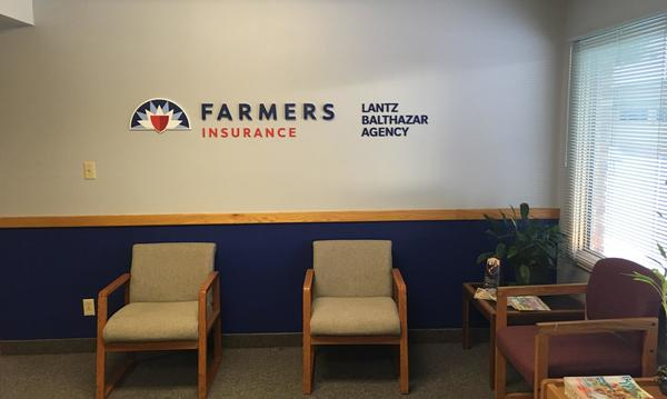An empty Farmers Insurance office
