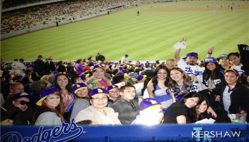 The ALBA Family Night at Dodger Stadium for fund raising..