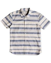 Image of Quiksilver Striped Cotton Shirt, Big Boys