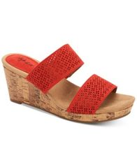 Image of Style & Co Jacelin Wedge Sandals, Created for Macys