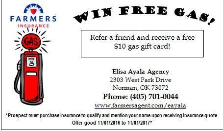 Win Free Gas, Refer a Friend to Farmers®