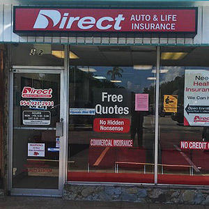 Front of Direct Auto store at 322 South Federal Highway, Dania
