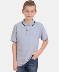 Image of Calvin Klein Big Boys Embossed Polo