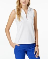 Image of Tommy Hilfiger Zip-Up Polo Top, Created for Macy's
