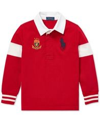 Image of Polo Ralph Lauren Toddler Boys Big Pony Cotton Rugby Shirt