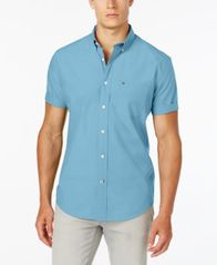Image of Tommy Hilfiger Men's Maxwell Short-Sleeve Button-Down Shirt