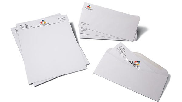 customized stationary, letterhead and envelopes
