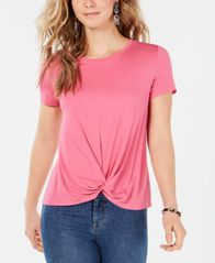 Image of Style & Co Twist-Front Top, Created for Macy's