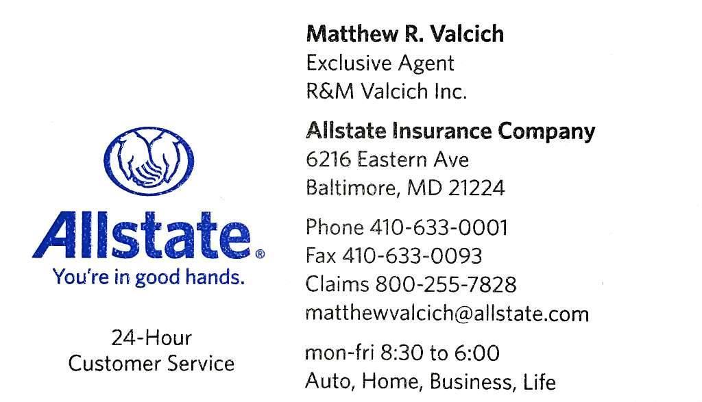 Allstate Car Insurance In Baltimore Md Matthew Valcich