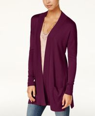 Image of Hippie Rose Juniors' Open-Front Duster Cardigan