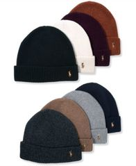 Image of Polo Ralph Lauren Signature Merino Cuffed Beanie
