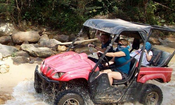 My kids and I off-roading in Puerto Vallarta