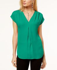 Image of I.N.C. Inverted-Pleat V-Neck Top, Created for Macy's