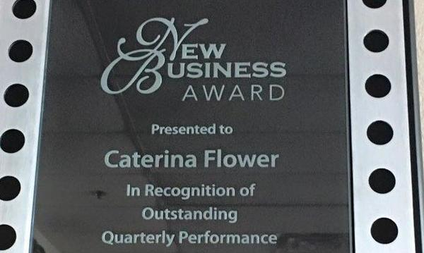 Caterina Flower agency's New Business Award from Farmers