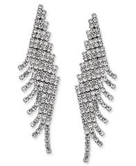 Image of Charter Club Angled Pavé Fringe Drop Earrings, Created for Macy's