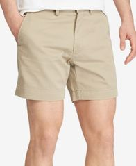 "Image of Polo Ralph Lauren Men's Core 6"" Classic-Fit Flat-Front Chino Shorts"