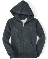 Image of Ralph Lauren Full Zip Hoodie, Toddler Boys