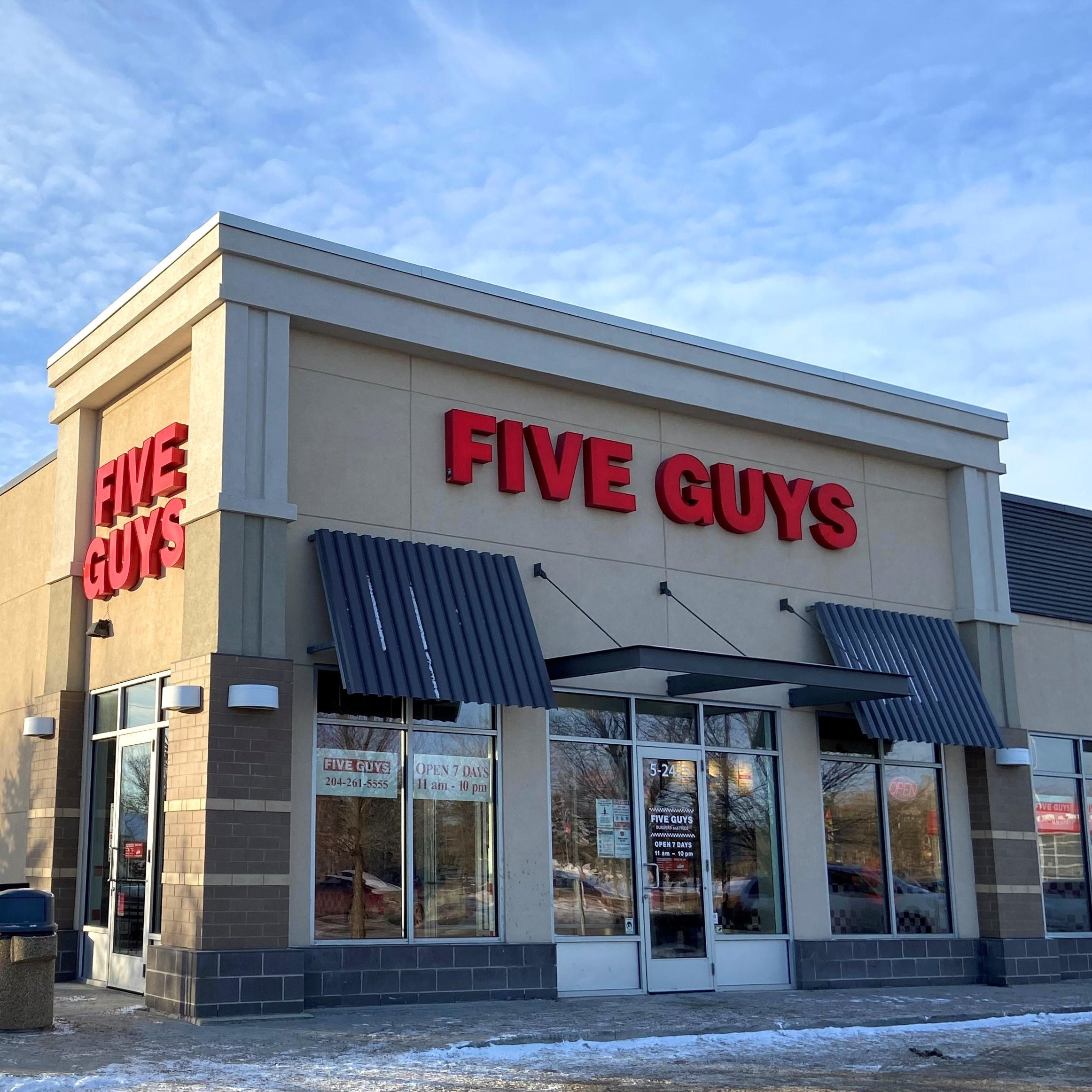 Five Guys at 2425 Pembina Highway in Winnipeg.