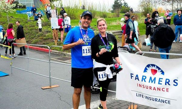 Tony and Lucy Ponce de Leon in Merced Island running a half marathon with Team Farmers® Life!