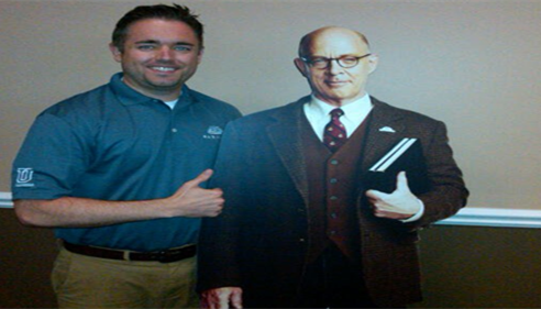 Me and Professor Burke! A great addition to the Farmers® Insurance team.