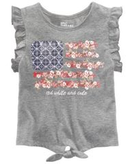 Image of Epic Threads Toddler Girls Ruffle-Sleeve Graphic-Print T-Shirt, Created for Macy's