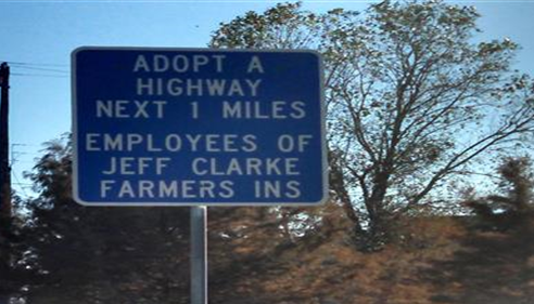 Adopt a highway employees of jeff clarke farmers inc