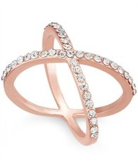 Image of I.N.C. Criss Cross Rhinestone Rings, Created for Macy's