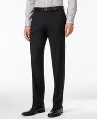 Image of Kenneth Cole Reaction Straight-Fit Stretch Gabardine Solid Dress Pants
